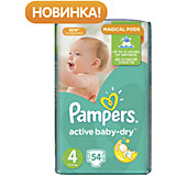 Подгузники Pampers Active Baby-Dry Maxi, 8-14 кг, 4 размер, 54 шт., Pampers