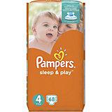 Подгузники Pampers Sleep & Play Maxi, 8-14 кг, 4 размер, 68 шт., Pampers