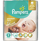 Подгузники Pampers Premium Care MIni, 3-6 кг, 2 размер, Economy pack, 80 шт., Pampers