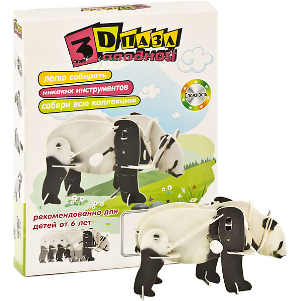 Конструктор – 3D пазл заводной: Панда, UF