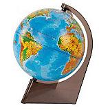 Глобус Земли физический на треугольнике, диаметр 210 мм