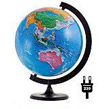 Глобус Земли политический с подсветкой, диаметр 320 мм