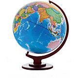 Глобус Земли политический рельефный, диаметр 420 мм