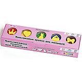 """Пальчиковые краски со штампиками """"Принцесса"""", 5 цветов"""