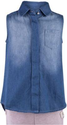 Блузка джинсовая для девочки BUTTON BLUE - голубой