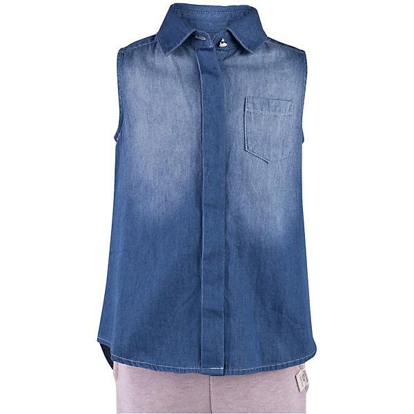 Блузка джинсовая для девочки  BUTTON BLUE