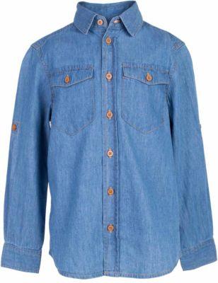 Рубашка джинсовая для мальчика BUTTON BLUE - синий