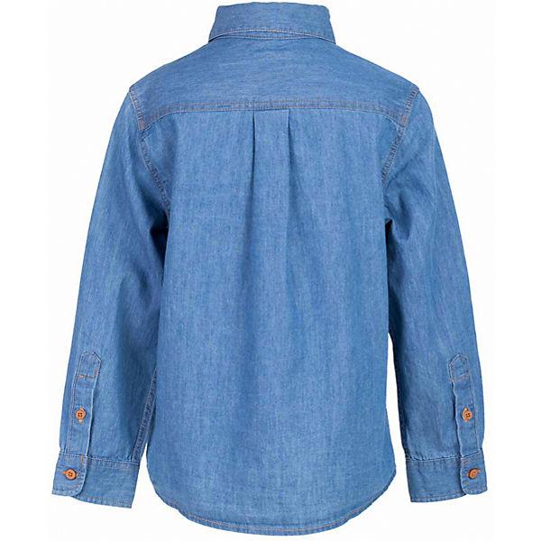 Рубашка джинсовая для мальчика  BUTTON BLUE