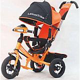 Трехколесный велосипед, со светом и звуком, оранжевый-черный, Lexus Trike LX