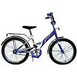 """Детский велосипед,  20"""",  синий/белый, Mustang"""