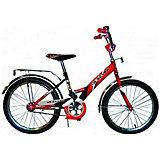 """Детский велосипед,  20"""",  красный/черный, Mustang"""