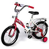 """Детский велосипед,  14"""",  малиновый/белый, Mustang"""