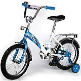 """Детский велосипед,  14"""",  синий/белый, Mustang"""
