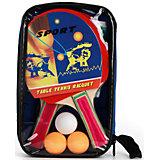 """Набор для настольного тенниса """"2 ракетки + 3 шарика + сетка"""" в сумке, Атлетик"""