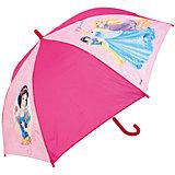 Зонт-трость 46 см, автоматический, розовый, Disney Princess