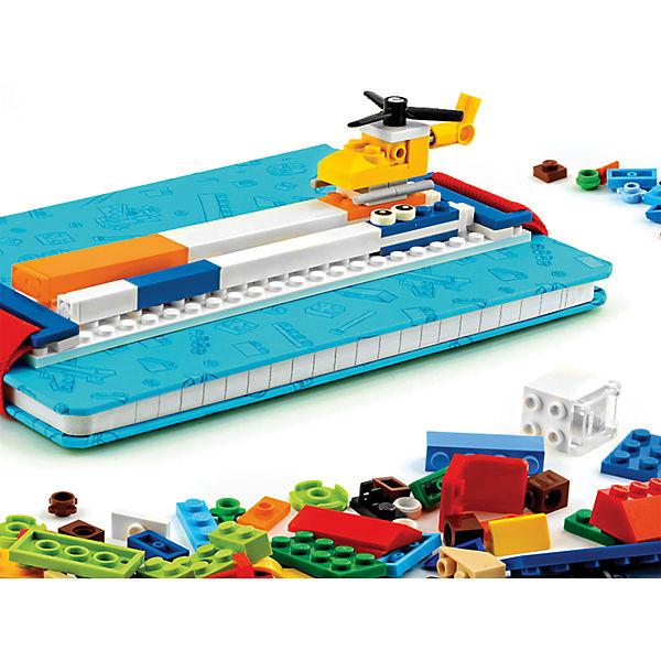 Записная книжка, 96 листов, линейка, с закладкой, цвет: голубой, LEGO