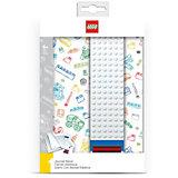 Записная книжка, 96 листов, линейка, с закладкой, цвет: белый, LEGO