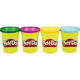 Набор из 4 баночек , в ассортименте, Play-Doh, Hasbro