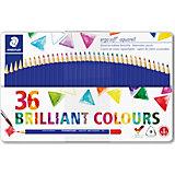 Набор акварельных карандашей ergosoft, трехгранные, 36 цветов
