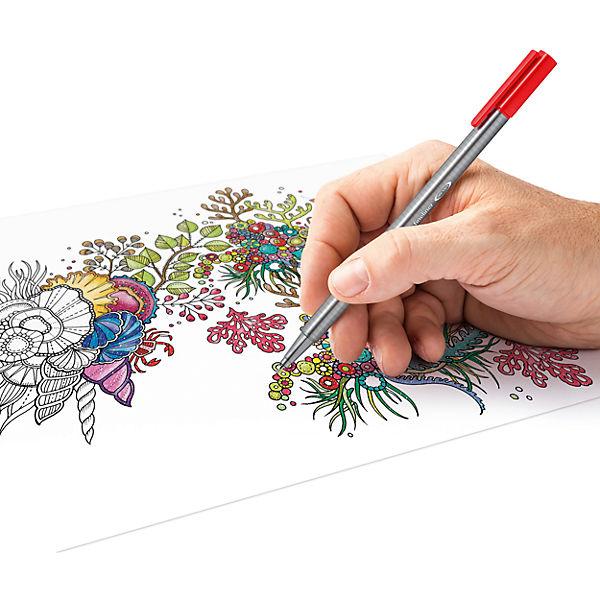 Набор капиллярных ручек Triplus, 36 цветов, яркие цвета, Staedtler