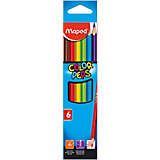 Карандаши цветные COLOR'PEPS, треугольные, 6 цветов, MAPED
