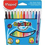 Фломастеры COLOR'PEPS, 12 цветов, MAPED