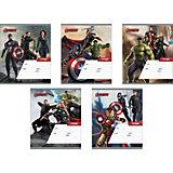 """Тетрадь 18 листов """"Мстители-2"""", упаковка из 10 шт."""