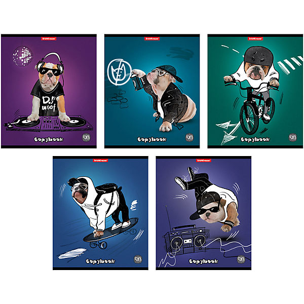 "Тетрадь 48 л ""Dog rules"", упаковка из 5 шт."