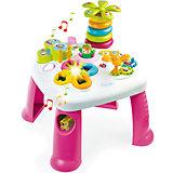 Развивающий игровой стол, розовый, Smoby