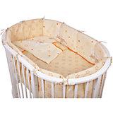 Постельное белье для овальной кроватки Зайки, 6 пред., Pituso, кремовый
