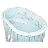Постельное белье для овальной кроватки Мишки, 6 пред., Pituso, голубой