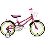 Велосипед  Pony 16, фиолетово-бело-зеленый, Welt