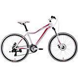 Велосипед  Edelweiss 1.0 D, 17 дюймов, бело-розовый, Welt