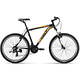 Велосипед  Ridge 1.0 V, 18 дюймов, черно-оранжевый, Welt