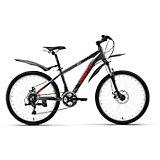 Велосипед  Peak 24 Disc, черно-красный, Welt