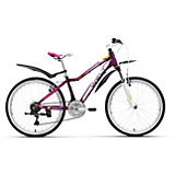 Велосипед  Edelweiss 24, фиолетово-белый, Welt
