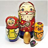 Матрешка Сказка-Курочка Ряба 5 кукольная 14 см