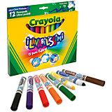 """Фломастеры """"Супер чисто"""", 12 шт., Crayola"""