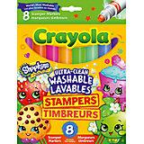 Фломастеры штампики, 8 шт., Shopkins, Crayola