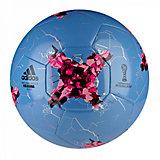 Мяч футбольный Krasava Glider р. 5, голубой, adidas
