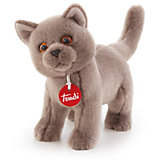 Серый кот Помпео, 29 см, Trudi
