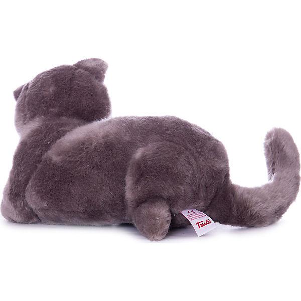 Серый кот Помпео, 38 см, лежачая, Trudi