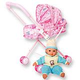 """Интерактивная кукла-младенец """"Милана"""" с коляской, 35 см, DollyToy"""