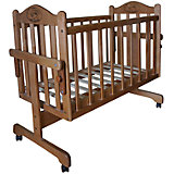 Кроватка-колыбель, Мой Малыш, ореховый