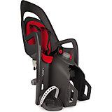 Детское велокресло Caress W/Carrier Adapter, Hamax, серый/красный