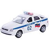 """Машинка """"Lada Priora"""" полиция 1:36, Autotime"""