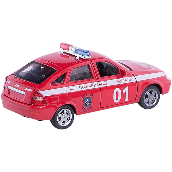 "Машинка ""Lada Priora"" пожарная охрана 1:36, Autotime"