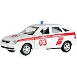 "Машинка ""Lada Priora"" скорая помощь 1:36, Autotime"