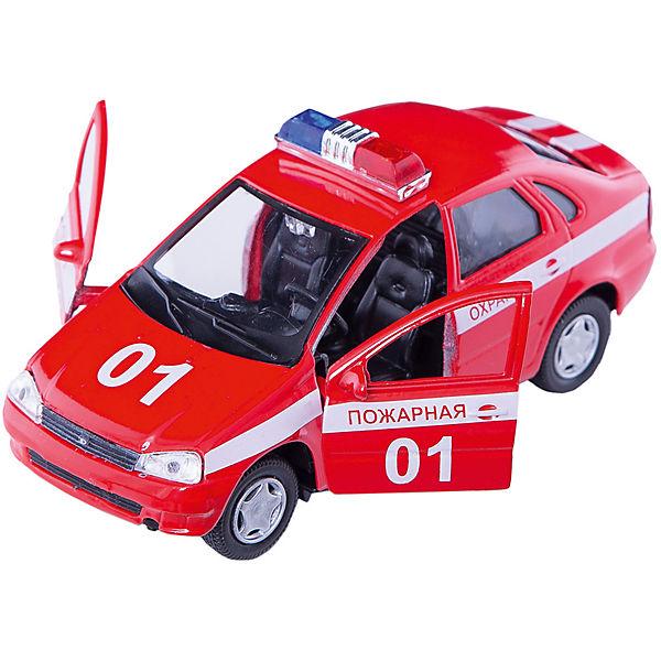 """Машинка """"Lada Kalina"""" пожарная охрана 1:34, Autotime"""