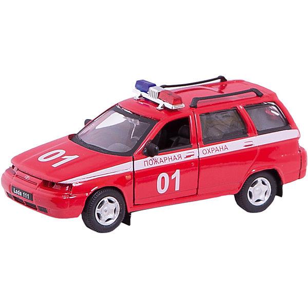 """Машинка """"Lada 111"""" пожарная охрана 1:36, Autotime"""